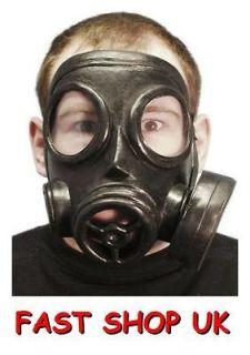 Adult Rubber Fake Gas Mask Fancy Dress WW2 WW1 DRESSING UP COSTUME
