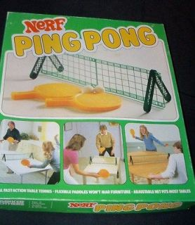 PING PONG Parker Brothers Table Tennis Plastic Paddle Toy Ball Set