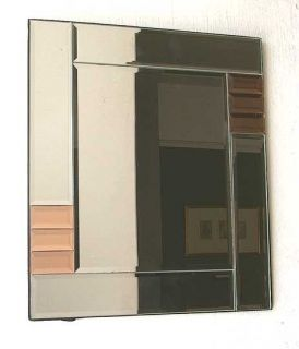 Mission style wall cabinet with mirrored door for Kitchen cabinets lowes with art deco style wall mirror