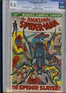 AMAZING SPIDER MAN (SPIDERMAN) #105 CGC 9.6 OW PGS 2ND