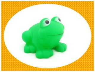 Newly listed 5 Pcs Green Frog Baby Rubber Bath Toy W/ Be Sound