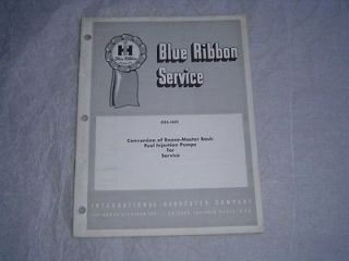 Roosa Master basic fuel injection pumps service shop manual