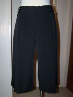 Studio 1940 Petites Womens Dress Gauchos Pants Size 12P Black Stretch