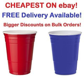 Red Solo Plastic Party Cups   Official Beer Pong Flip Cups Free P&P