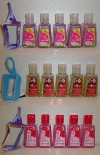 Bath & Body Works 5 Anti Bacterial PocketBac Sanitizing Hand Gel w/ 1