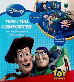 Toy story blue twin comforter sheets drapes 5pc bedding set new