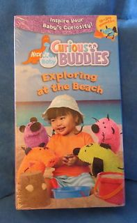 Curious Buddies Exploring At The Beach VHS 9 24 Months Nick Jr Baby