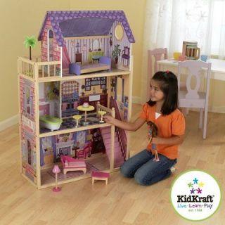 Hannah Wooden Dollhouse Pretend Play Doll House & Furniture 65092