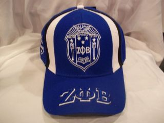 ZETA PHI BETA EST. 1920 COLLEGE FRAT BALL CAP HAT IN BLUE WHITE