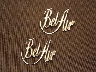 PAIR OF 1971 CHEVY BEL AIR FENDER EMBLEMS
