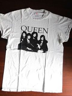 VINTAGE ORIGINAL ROCK WHITE SHIRT  QUEEN  FREDDIE MERCURY 70s