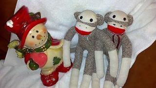 Mini Sock Puppy Dog ~ Sock Monkey Dolls Best Friend