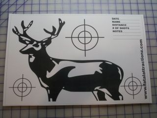 Shooting Targets 5 Pk Deer 11x17 Airsoft BB Gun Rifle pellet dart blow