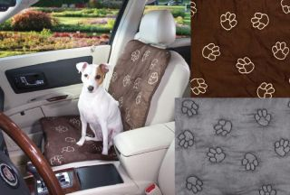 Bucket single polyester CAR SEAT COVER w/ sherpa Pet Dog Van Truck SUV