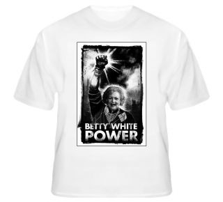 Betty White Power Golden Girls Vintage TV T Shirts