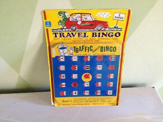 Regal Traffic Safety Bingo car auto game classic road way signs ID