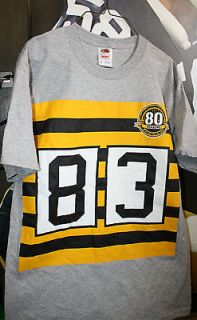 Pittsburgh Steelers Adult T Shirt (Heath Miller #) 83 Throw Back Style