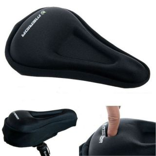 Bike Bicycle Silicone Soft Pad Saddle Silica Gel Cushion Seat Cover