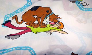 Vintage Dan River Scooby Doo Twin Flat Fitted Sheet Set Bedding