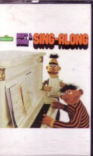 Sesame Street Bert Ernie Sing A Long Cassette Rare OOP