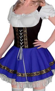 Sexy Blue Dutch Beer Girl L Costume Mini Dress Cosplay Amusing