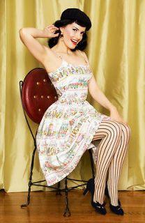 Bernie Dexter Parisian Cafe Picnic Dress pinup Swing 40s Lindy Hop