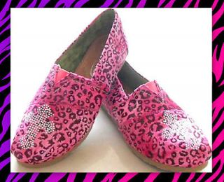 PINK CHEETAH CROSS Rodeo Western Cowgirl Rhinestone flats Loafers
