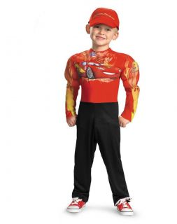 Disney Pixar Cars 2 Lightning McQueen Boys Classic Muscle Costume NWT