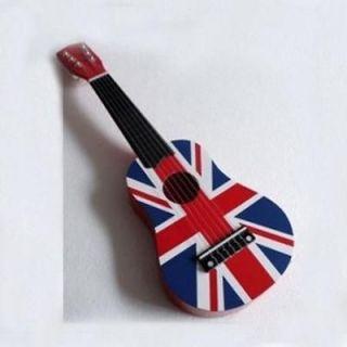 New British flag design guitar acoustic instrument kids music