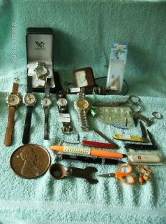 Junk Drawer Collectible Watches,Knives & Others No Junk