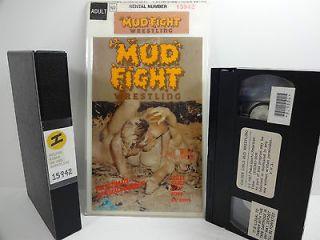 Mud Fight Wrestling (VHS) Jupiter Video Lesley, Nancy, Beth, Steve