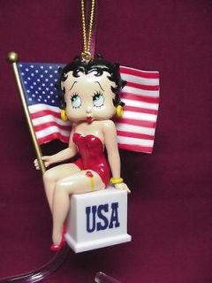 Betty Boop ORNAMENT USA FLAG RETIRED ITEM