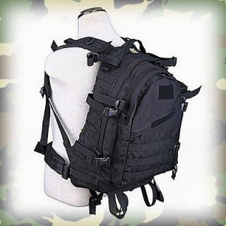 LITERS ARMY MILITARY ASSAULT BACKPACK RUCKSACK BERGEN CADET BAG Black