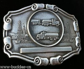 RIG DRILLING WORKERS TRUCK DRIVER TRUCKS BIG BELT BUCKLE BELTS BUCKLES