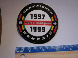 Fisher World Champion MOUNTAIN BIKE BICYCLE Frame Ride STICKER DECAL
