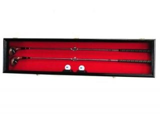Golf Club Putter Ball Display Case Cabinet Wall Rack