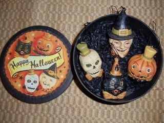 Bethany Lowe Boxed Set 4 Halloween Ornaments Greg Guedel NEW