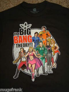 The Big Bang Theory Tv Show Comic Book Group Bazinga Black T Shirt