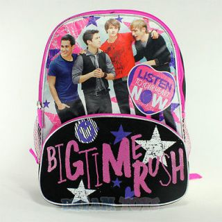 Big Time Rush Backpack   Large 16 School Bag Logan James Kendall