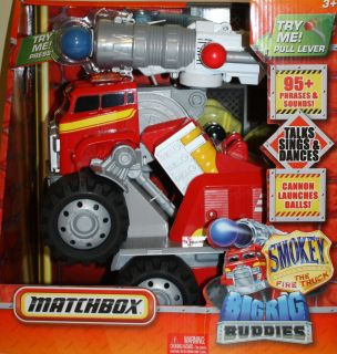 Matchbox Smokey Fire Truck Big Rig Buddy includes DVD 95 Phrases