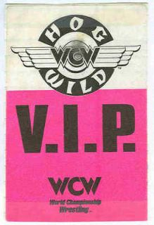 WCW Backstage VIP Crew Pass   PPV Hog Wild 1996