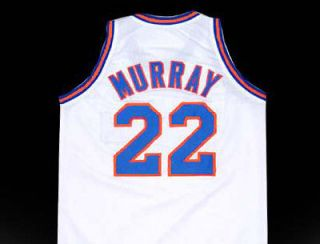 BILL MURRAY TUNE SQUAD SPACE JAM MOVIE JERSEY WHITE NEW ANY SIZE