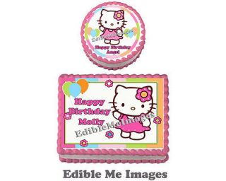 Hello Kitty CupCake Topper Decoration Party Supplies Cat Birthday Cake
