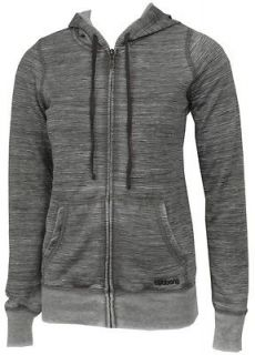 BILLABONG SEEKER BLACK/GRAY FULL ZIP WOMENS HOODIE HOODED SWEATSHIRT