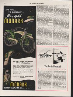 1946 MONARK CYCLE WHEEL BIKE FITNESS SILVER KING PEDAL