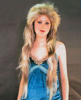 Long Blonde Rocker Wig Mullet George Michael Hill Billy Fancy Dress