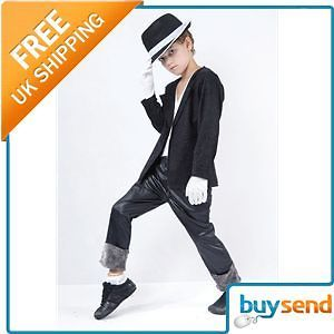 Kid Childrens Michael Jackson Billie Jean Costume Large