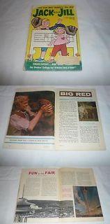 June 1962 Jack+Jill ~ Disneys BIG RED ~ Irish Setter, Seattle Worlds