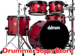 ddrum Journeyman Drum Set Red Sparkle Player 5pc Kit with Hardware