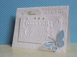 Sizzix embossing folder FOREVER & ALWAYS w BONUS STAMPIN UP FLOWERS